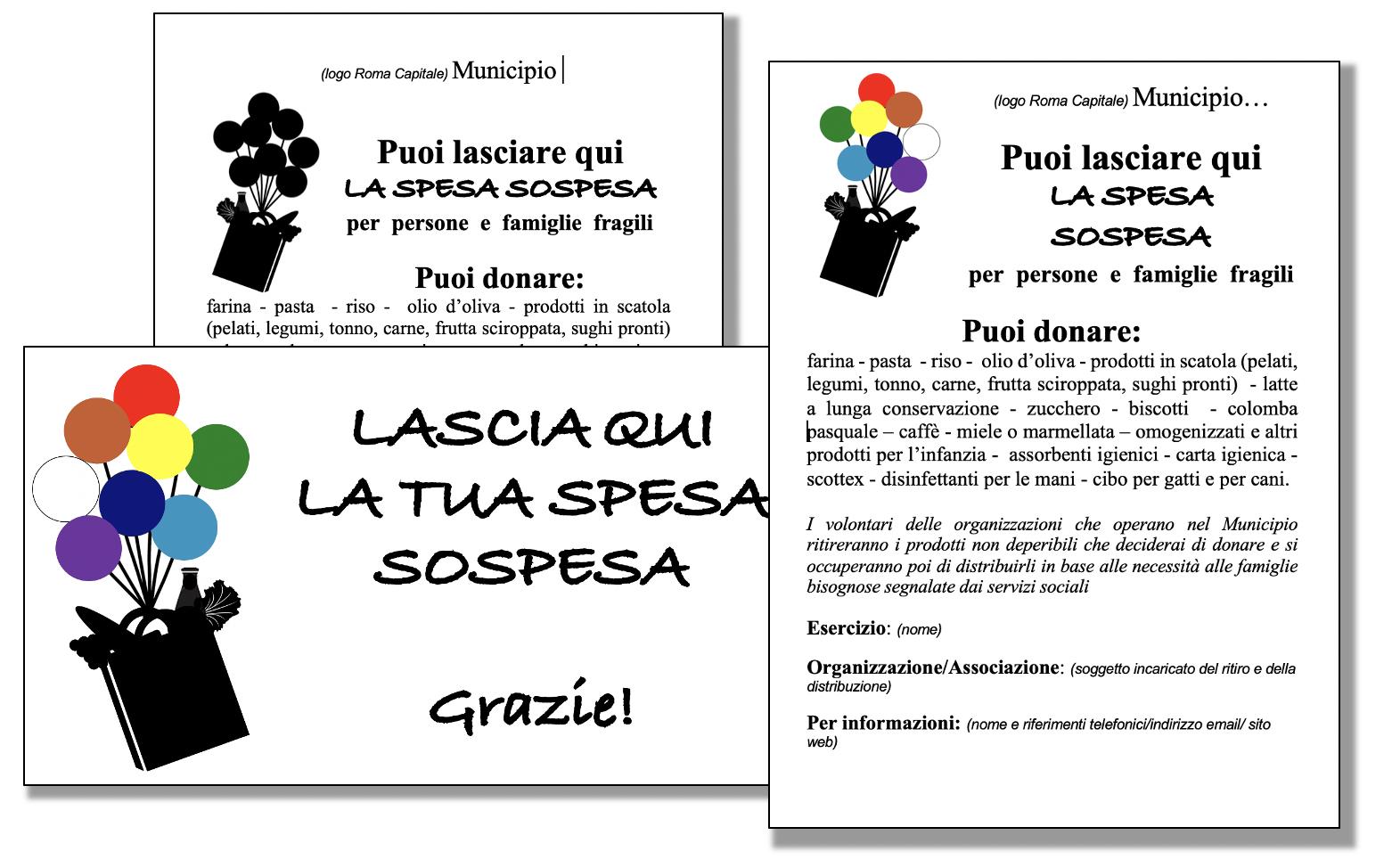 mosaico spesa sospesa locandine carteinregola 2