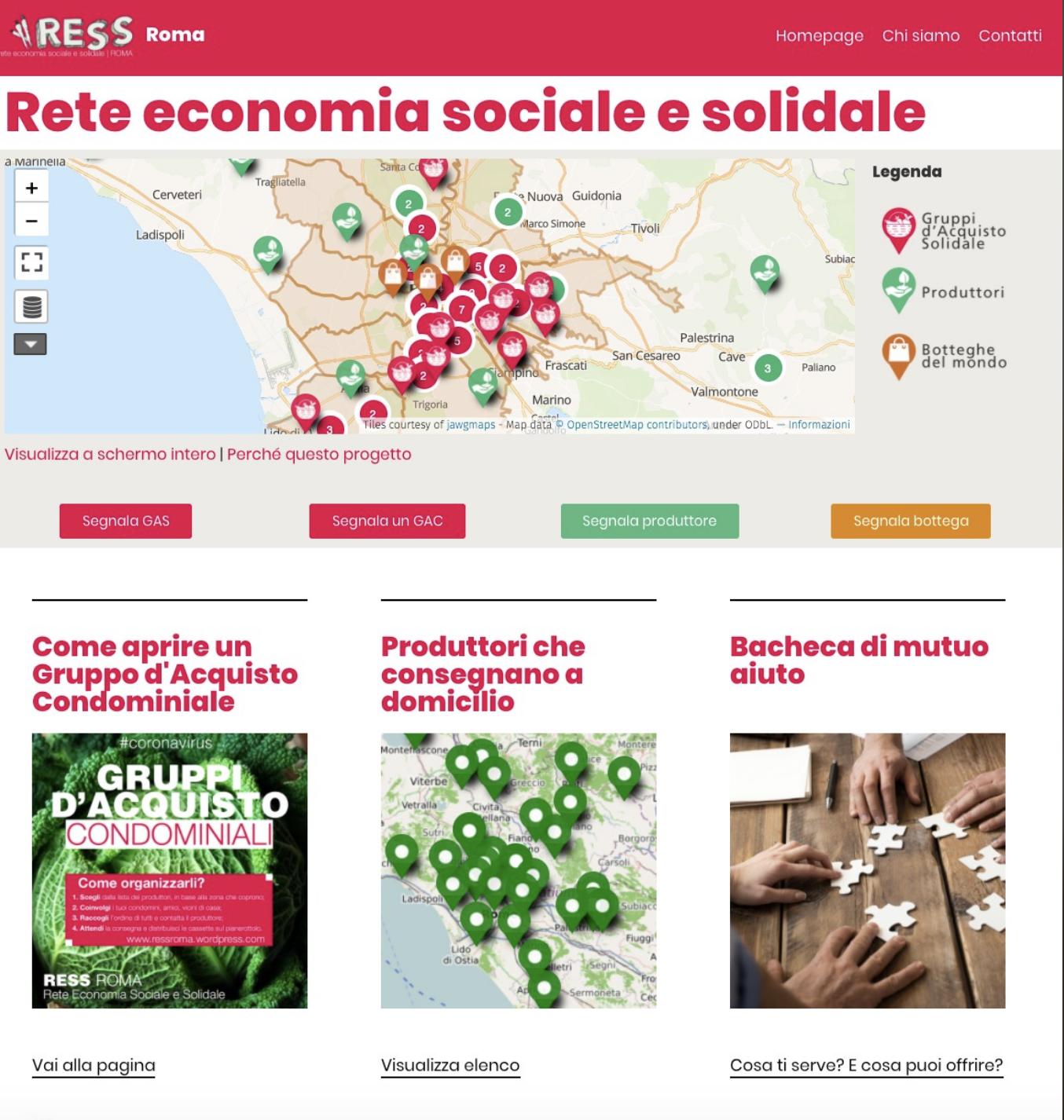 rete economia sociale solidale