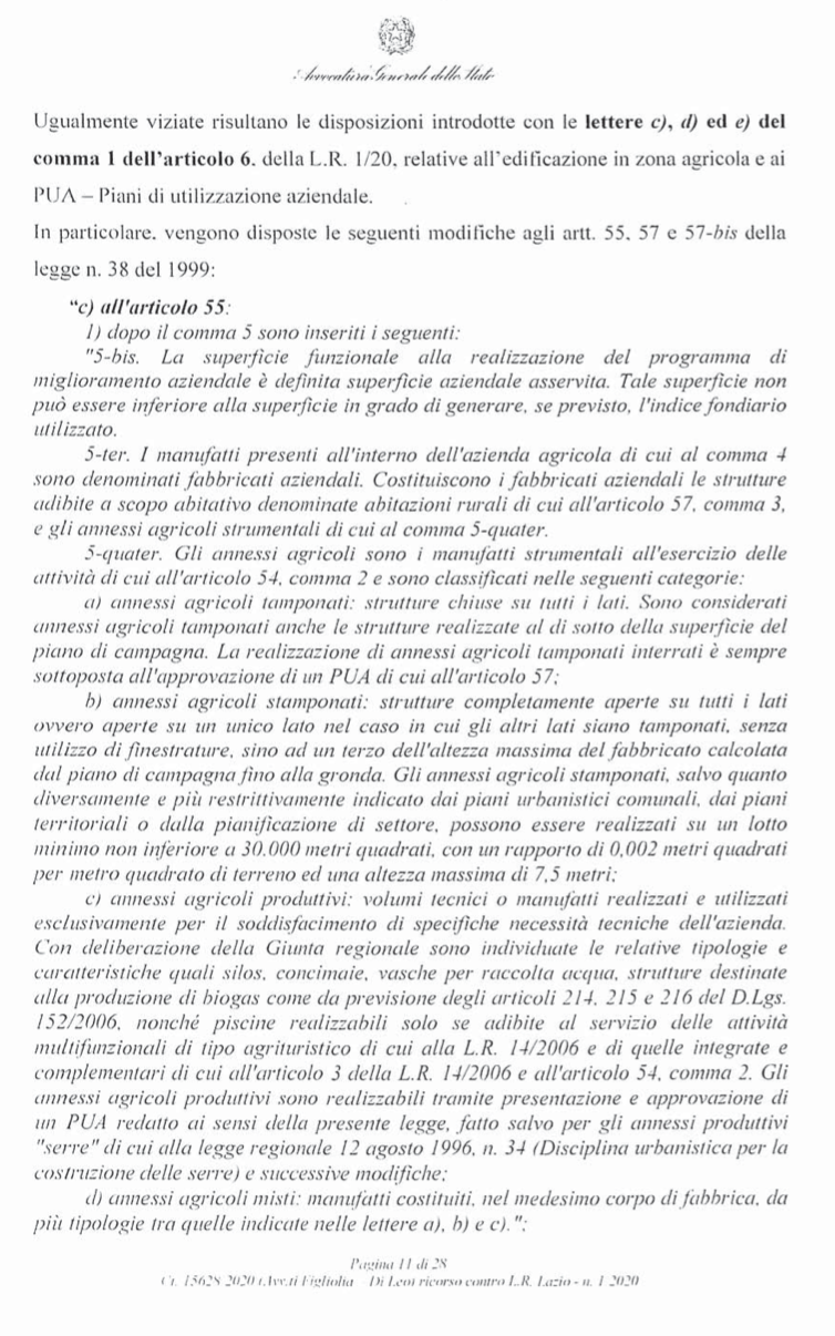 RICORSO MIBACT LAZIO MAGGIO 2O20. pag 11 punto 2