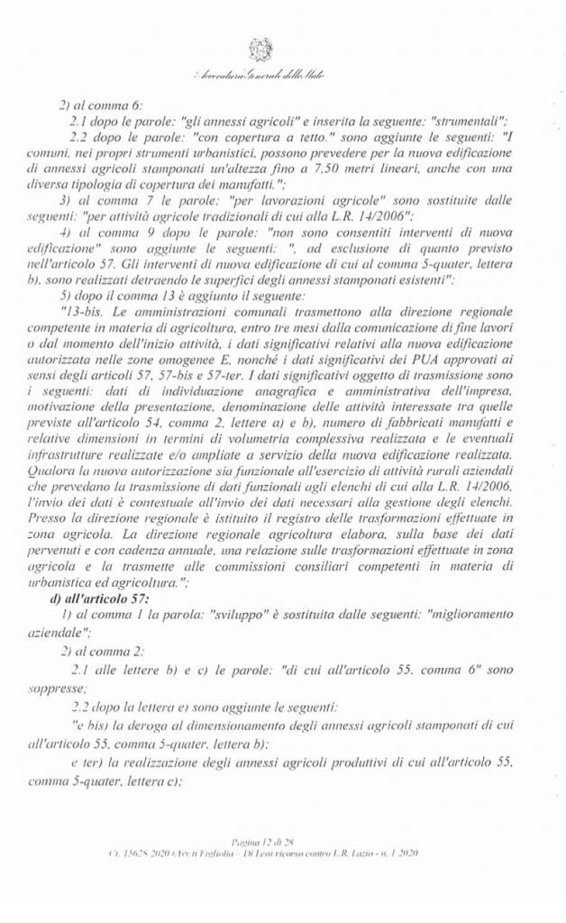 RICORSO MIBACT LAZIO MAGGIO 2O20. pag 12 punto 2