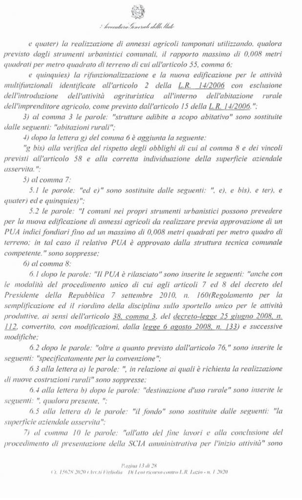 RICORSO MIBACT LAZIO MAGGIO 2O20. pag 13 punto 2