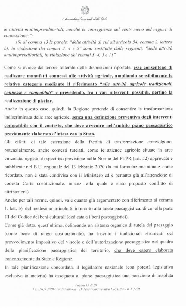 RICORSO MIBACT LAZIO MAGGIO 2O20. pag 15 punto 2