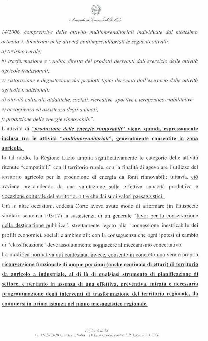 RICORSO MIBACT LAZIO MAGGIO 2O20. pag6punto 2