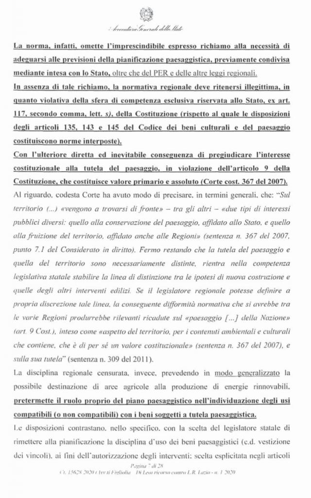 RICORSO MIBACT LAZIO MAGGIO 2O20. pag7 punto 2