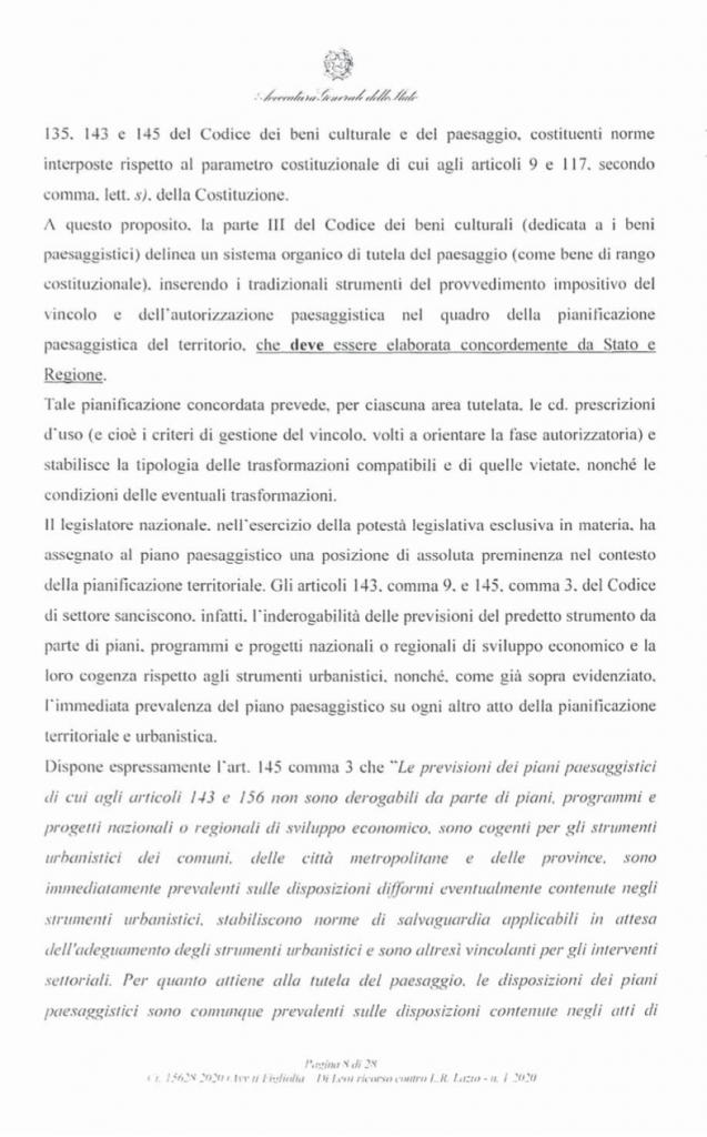 RICORSO MIBACT LAZIO MAGGIO 2O20. pag8 punto 2
