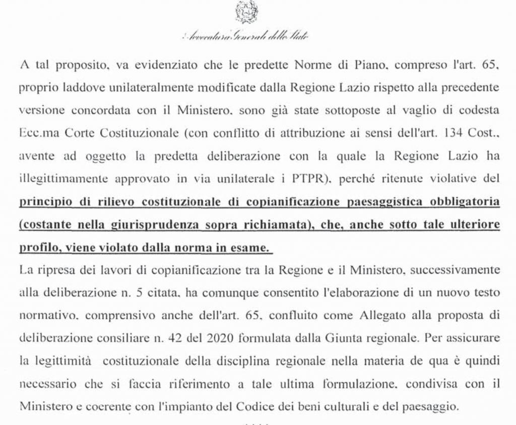 RICORSO MIBACT LAZIO MAGGIO 2O20.pag. 5 a punto 1