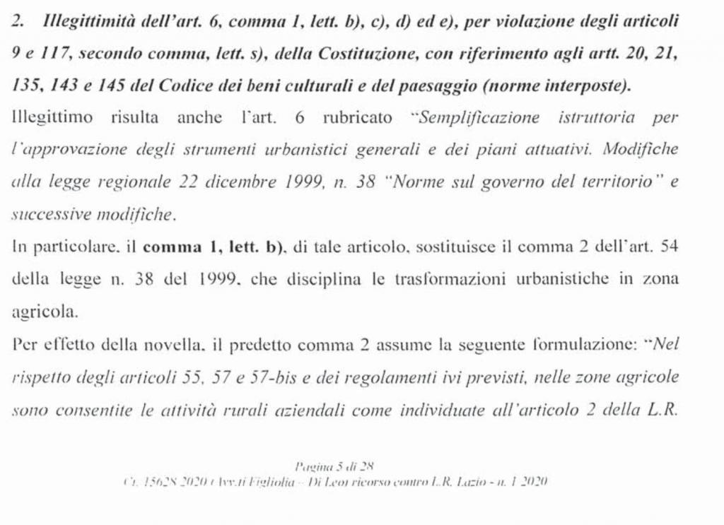 RICORSO MIBACT LAZIO MAGGIO 2O20.pag. 5 b punto 2