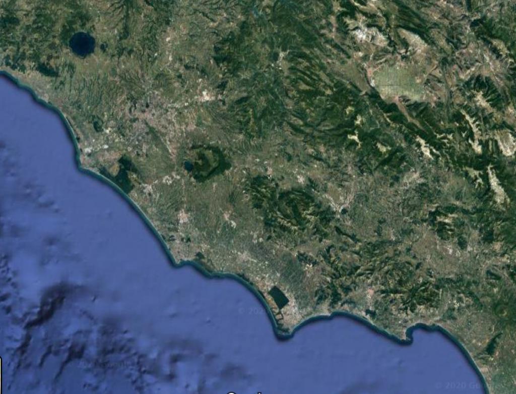 coste del Lazio Google map