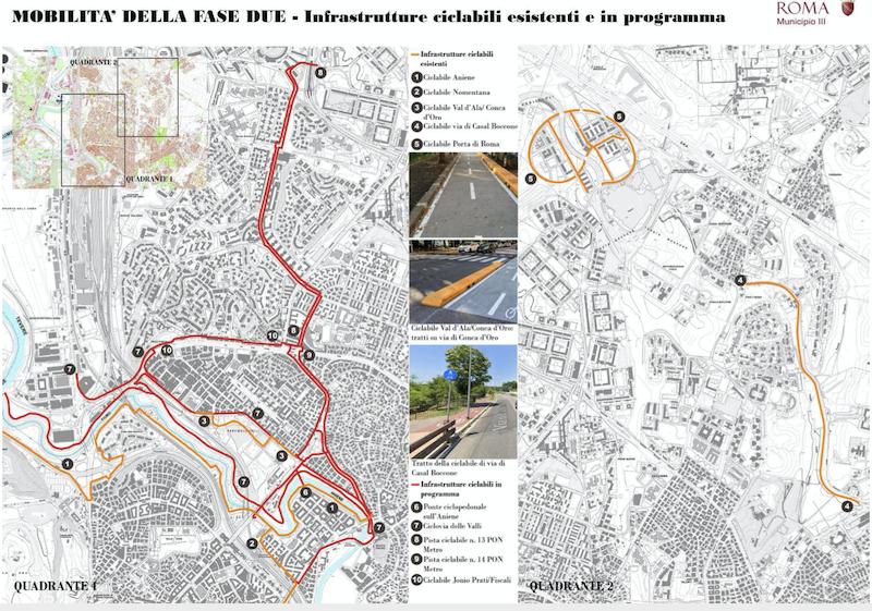 mobilità-mappe III municipio piste ciclabili 1