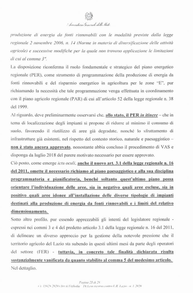 ricorso mibact regione maggio 2020 pag. 23 punto 5