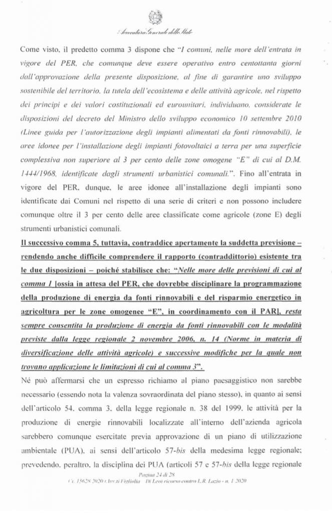 ricorso mibact regione maggio 2020 pag. 24 punto 5
