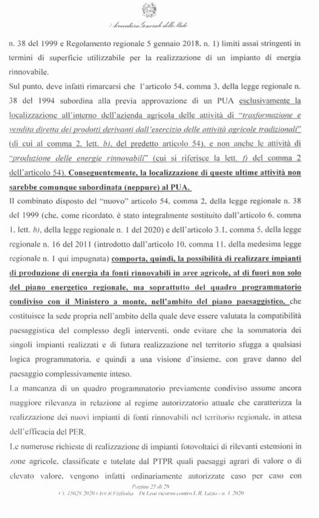 ricorso mibact regione maggio 2020 pag. 25 punto 5
