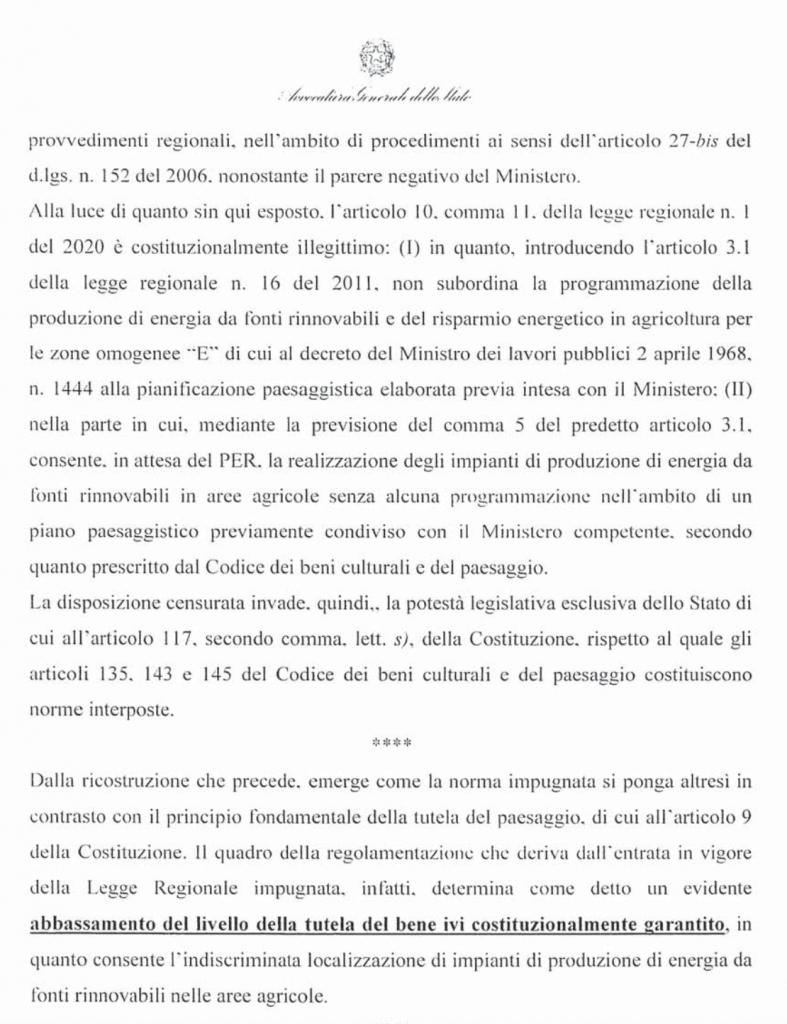 ricorso mibact regione maggio 2020 pag. 26 punto 5