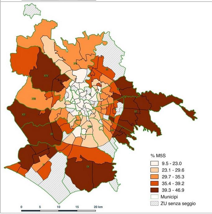 mapparoma elezioni politiche 2018 roma m5s