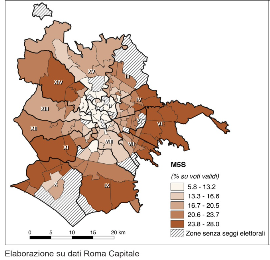 mapparoma26 elezioni europee 2019 roma m5s