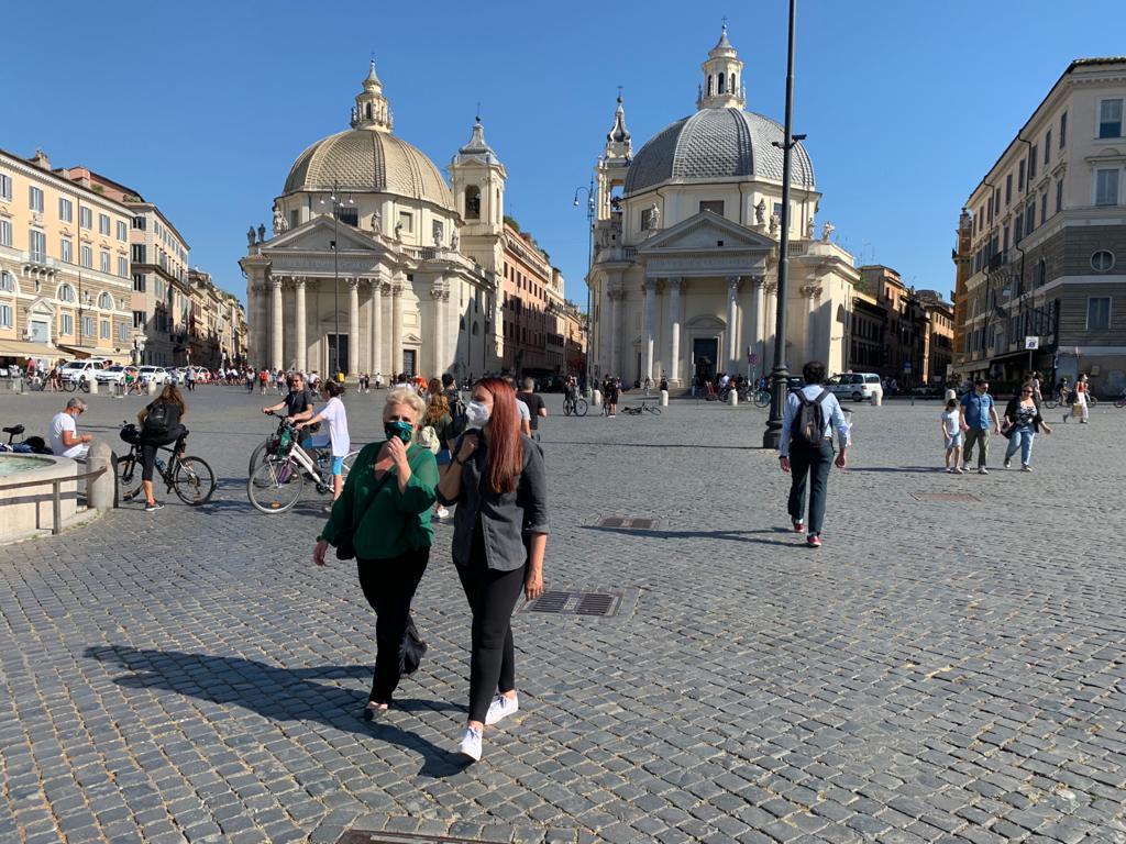 piazza del popolo ai tempi del Covid foto ambm