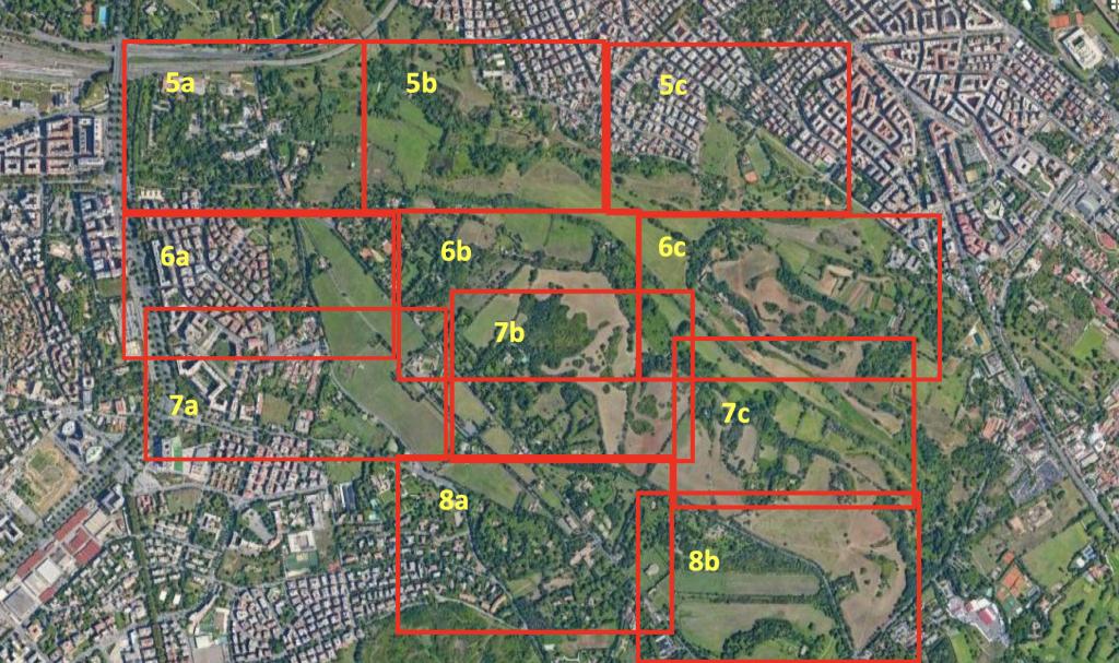 quadro unione tavole map appia caffarella