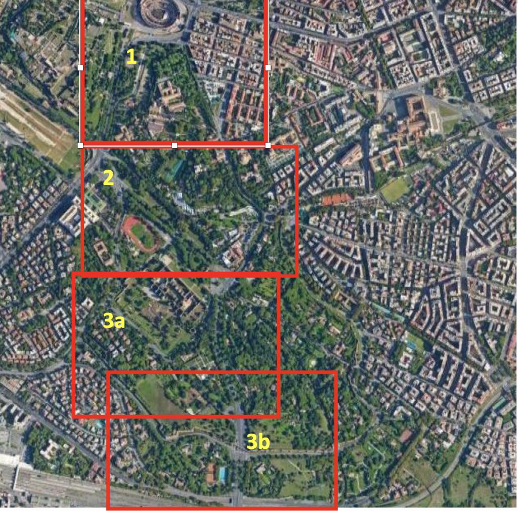 quadro unione tavole map colosseo mura aureliane