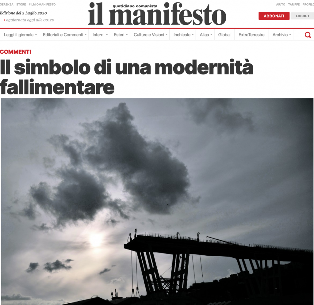 il manifesto 2020-07-01 scandurra ponte