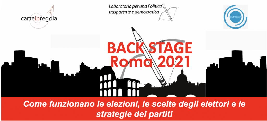 testata locandina back stage elezioni 2021