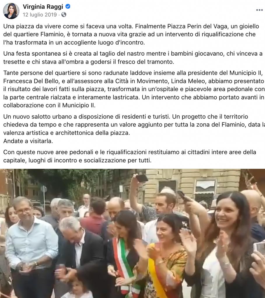 Cose fatte  - 277 Pedonalizzazione Piazza Perin del Vaga - Flaminio II Municipio