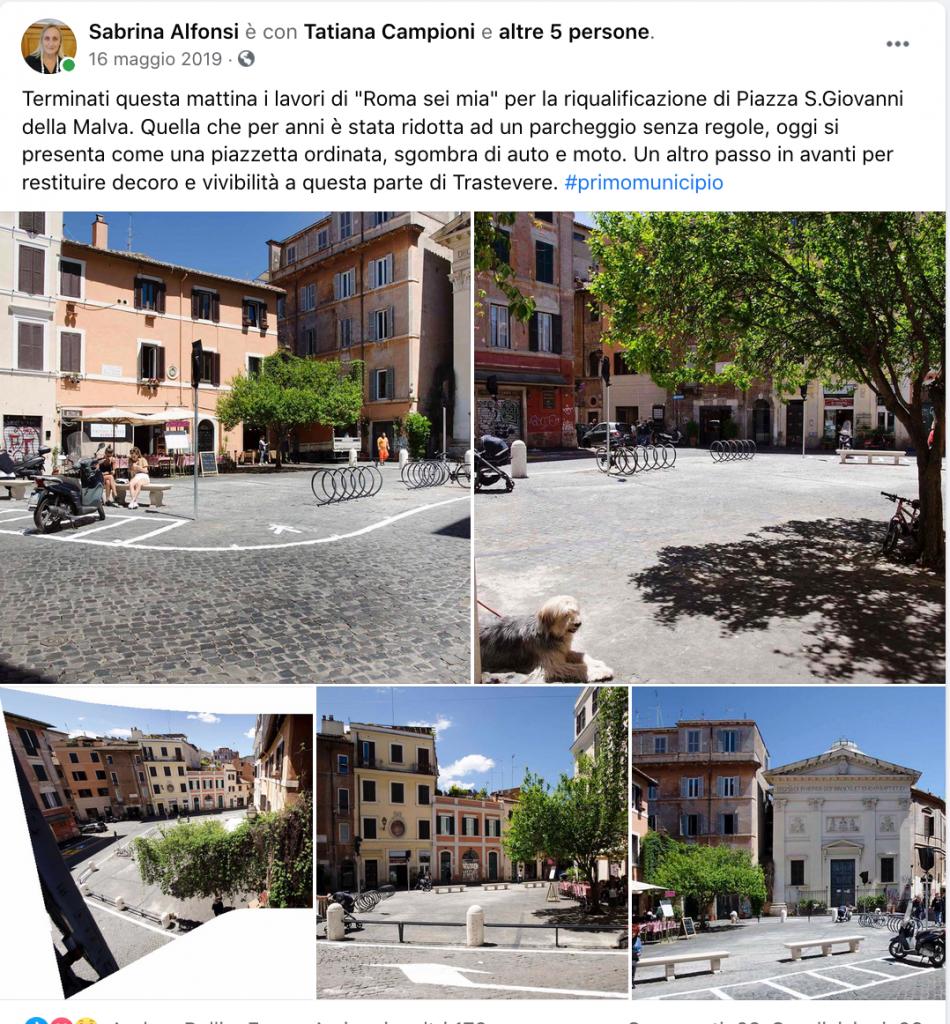 cose fatte - 324 , rifacimento e parziale peedonalizzazione piazza della Malva I Municipio