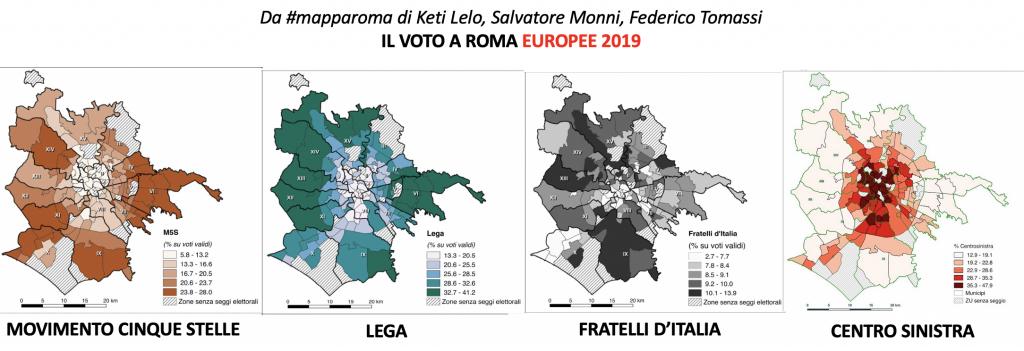 da #mapparoma confronto voto roma elez.europee a Roma 2019