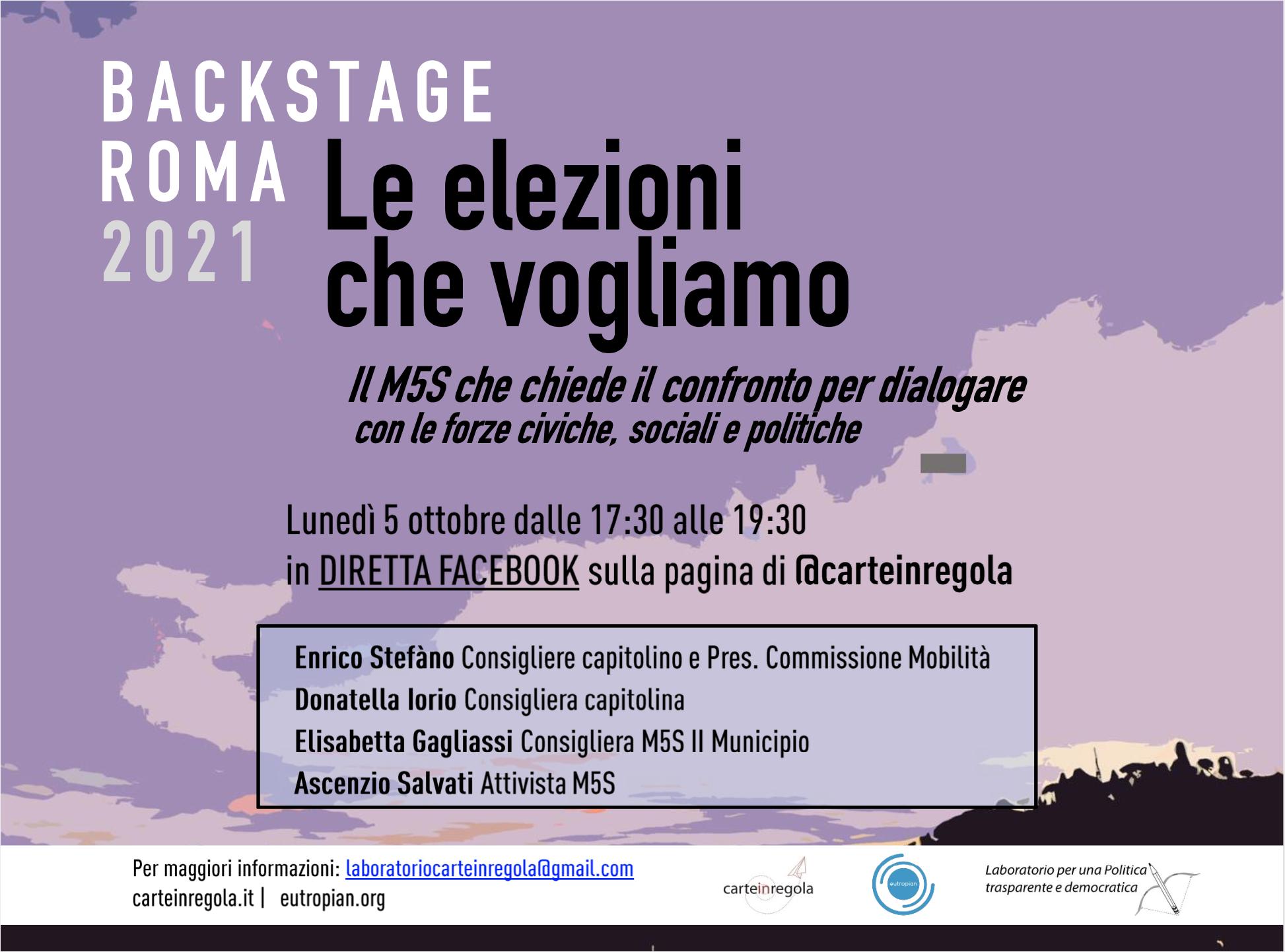 BACK STAGE ROMA 2021 - 5 ottobre